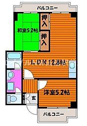 香川県高松市今里町2丁目の賃貸マンションの間取り