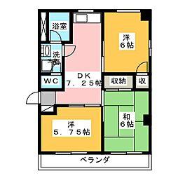 宮本町ハイツA[3階]の間取り