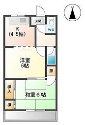 サンハイツNAWA[2階]の間取り