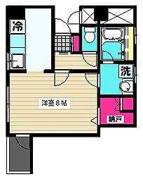 東京都大田区羽田1丁目の賃貸マンションの間取り