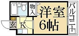 京都府京都市左京区一乗寺地蔵本町の賃貸マンションの間取り