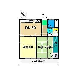 山岡マンション[2階]の間取り