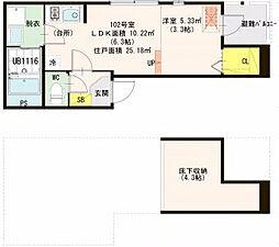 仮)高殿3丁目SKHコーポ[1階]の間取り