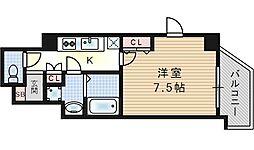 大阪府大阪市此花区西九条3丁目の賃貸マンションの間取り
