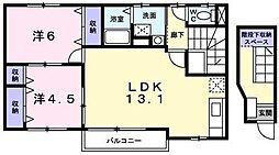 エストロジュマン[2階]の間取り