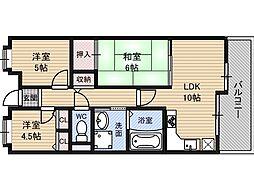 ライオンズマンション新大阪第6[2階]の間取り