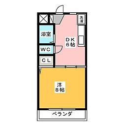 ロイヤルシティ豊田 B棟[3階]の間取り