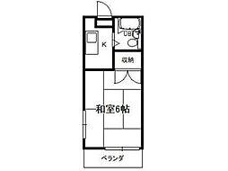 田所コーポ[3階]の間取り