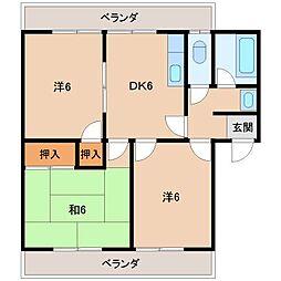 第1山川マンション[3階]の間取り