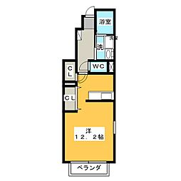 ネネムの森A[2階]の間取り