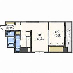 ブランノワールN13exe[9階]の間取り