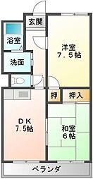 ファミーユ郷[3階]の間取り