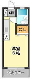 東京都江戸川区東小岩2丁目の賃貸マンションの間取り