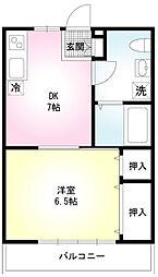 ソワサント菅野[1階]の間取り