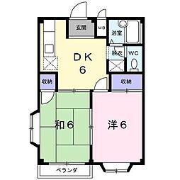 静岡県富士市森島の賃貸アパートの間取り