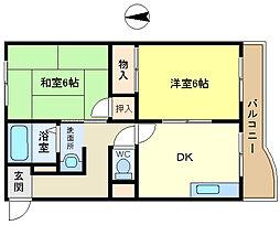 昭郷ツインハイツ[2階]の間取り