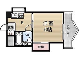 アンフィニ庄2[2階]の間取り
