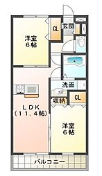 LaLa Fukuda[1階]の間取り