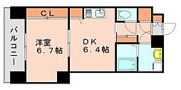福岡県福岡市博多区金の隈2丁目の賃貸マンションの間取り