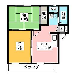 サニーライフアイ B[1階]の間取り