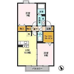 オベルジーヌC棟[2階]の間取り