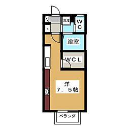 メルベーユ・フルーレ[1階]の間取り