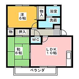 ロイヤルガーデン A棟 B棟[2階]の間取り