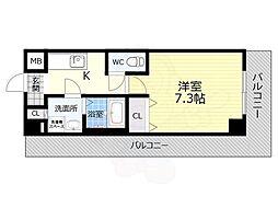 TOYOTOMI STAY PREMIUM 天王寺公園南3 9階1Kの間取り
