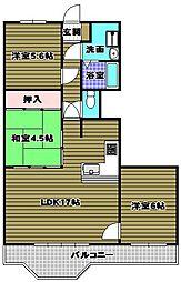 狭山レークハイツ2号館[7階]の間取り