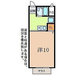静岡県三島市寿町の賃貸アパートの間取り