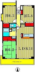 ドゥーブル水元[4階]の間取り