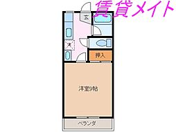 ハイツU-FO[2階]の間取り