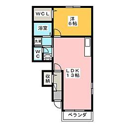 フラワーロードガーデン[1階]の間取り