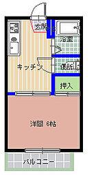 TOJU中根[202号室]の間取り