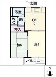 タウニー桜木[2階]の間取り