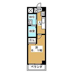 エステムプラザ京都御所ノ内 REGIA[6階]の間取り