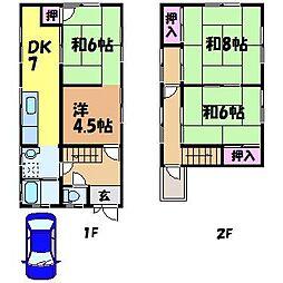 [一戸建] 愛媛県松山市祝谷5丁目 の賃貸【愛媛県 / 松山市】の間取り