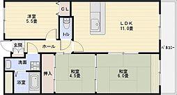 ガーディナルパレス[4階]の間取り
