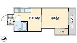 VIP浅野[203号室]の間取り