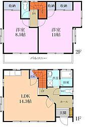 [一戸建] 静岡県袋井市諸井 の賃貸【/】の間取り