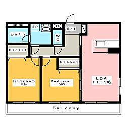 デルニエ ドミール[3階]の間取り