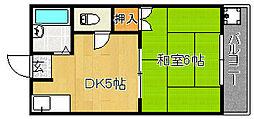シャルマン豊[3階]の間取り