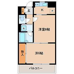 ロイヤルヒルズ成田町[4階]の間取り