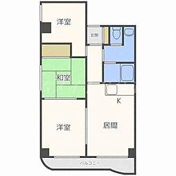 北海道札幌市東区北二十八条東8丁目の賃貸マンションの間取り