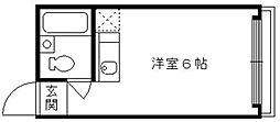 上田マンション[3階]の間取り