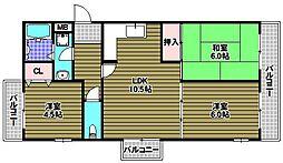 グリーンヒル藤沢[2階]の間取り