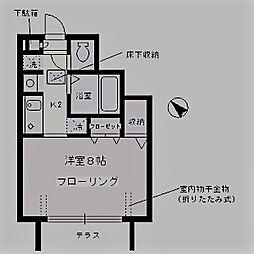 東京都中野区沼袋2丁目の賃貸アパートの間取り
