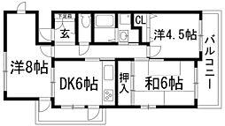 アセオ2番館[2階]の間取り