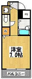 大阪府東大阪市川俣1丁目の賃貸マンションの間取り