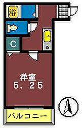 ヴランドール海神[202号室]の間取り